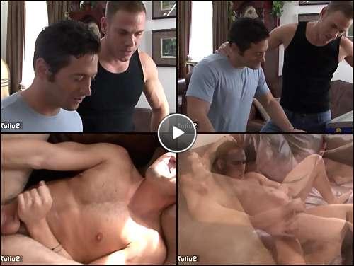two gay men kissing video